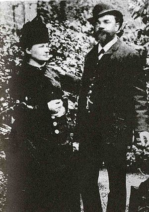 Symphony No. 8 (Dvořák) - The composer with his wife Anna in London, 1886