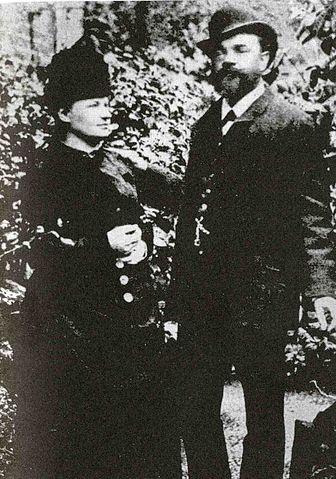 А. Дворжак с женой Анной в Лондоне, 1886 год.