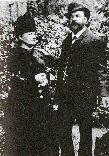 文件:AntonínDvořák与他的妻子安娜在伦敦,1886.jpg