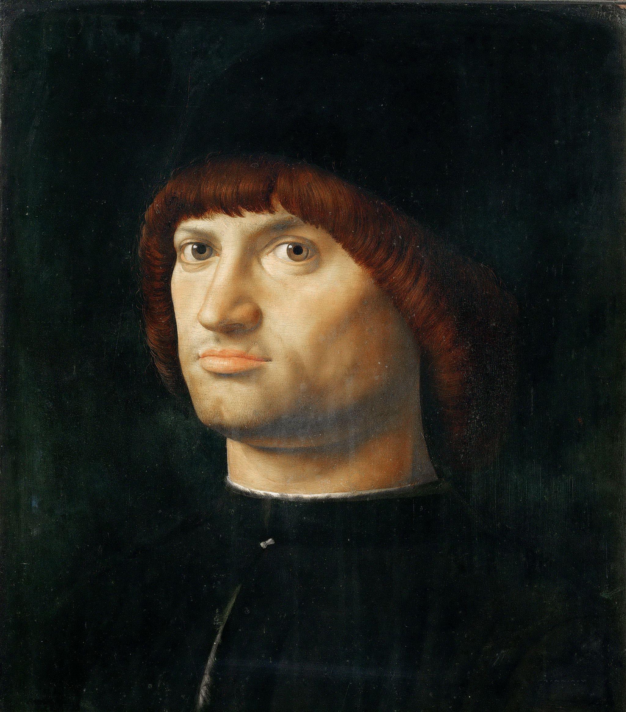Antonello da Messina (1430–1479), Ritratto d'uomo (Il condottiero), 1475 circa, olio su tavola di pioppo, 36,4×30 cm, Parigi, Musée du Louvre