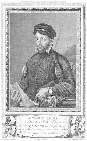 Antonio Pérez (statesman) - Antonio Pérez. 1791 engraving. Biblioteca Nacional de España. Madrid.
