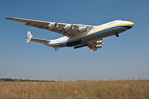 Gostomel Airport - Antonov Airlines Antonov An-225 landing at Gostomel (2014)
