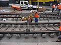 Anzin & Valenciennes - Travaux de raccordement des lignes A & B du tramway de Valenciennes à la Croix d'Anzin le 20 août 2013 (15).JPG