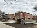 Apartments and playground, Poe Homes (1940), 800 W. Lexington Street, Baltimore, MD 21201 (38883456050).jpg