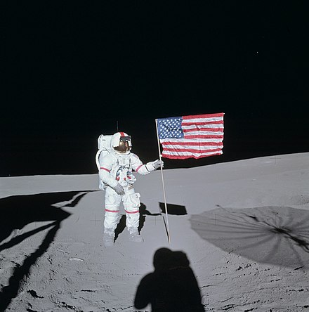 February 5: Apollo 14 on Moon Apollo 14 Shepard.jpg