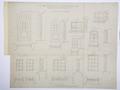 Arbetsritning, fastigheten nr 4 Hamngatan. Fönster och dörrar - Hallwylska museet - 105276.tif