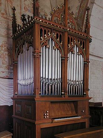 Ardre Church - Image: Ardre kyrka church organ