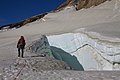 Argentina - Mt Tronador Ascent - 33 - descending among the crevasses (6962474425).jpg