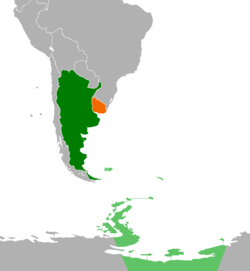 Argentinauruguay relations wikipedia map indicating locations of argentina and uruguay sciox Choice Image