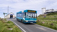 Arriva Wales 910 at Great Orme Summit (7876262716).jpg