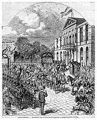 Arrival of Tsar Alexander II, Bucharest, 1877.jpg