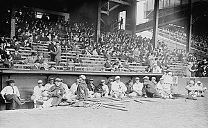 1914 World Series - Image: As Dugout 1914Series Game 1