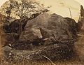 Ashoka Inscription on rock at the foot of Girnar Hill, near Junagadh, photo by D. H. Sykes,1869.jpg