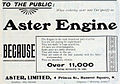 Aster advert, Hanover Square, 11,000 users, March 1906.jpg