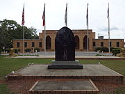 Astronauts Memorial (front), Hasan Temple, Albany
