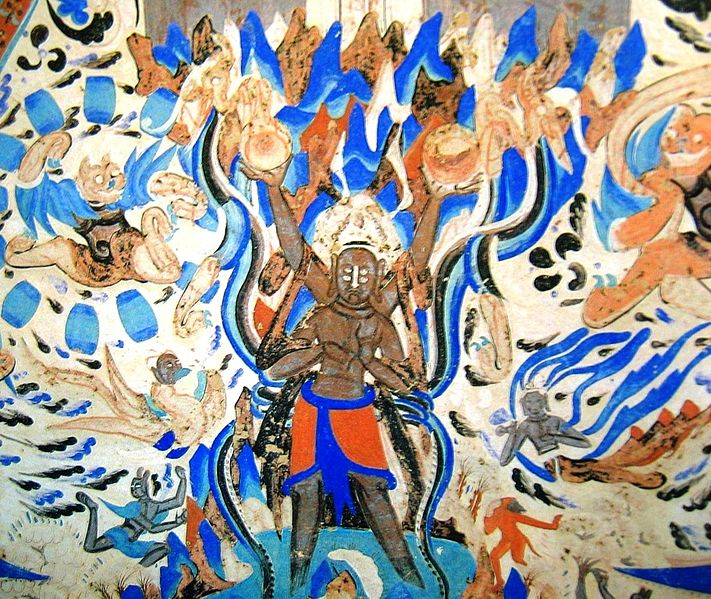Vaizdas:Asura in 249th cave of Mogao Caves.jpg