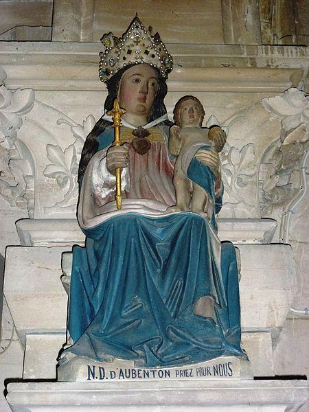 Aubenton (Aisne) Église Notre-Dame, statue N.D.-d'Aubenton