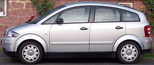 Audi A2 - Audi A2 side view