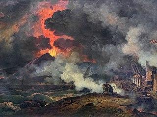 Éruption du Vésuve arrivée le 24 août de l'an 79