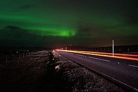 Aurora borealis from Caldback Hill (geograph 2774993).jpg
