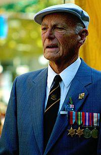 A veteran on Anzac Day.