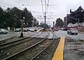 Auxiliary platforms at Boston College station, April 2015.jpg