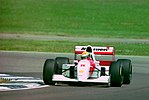 Ayrton Senna - Mclaren MP4-8 during practice for the 1993 British Grand Prix (33686778645).jpg