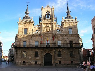 Astorga, Spain - Town hall of Astorga