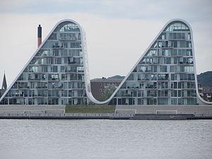 Bølgen, neues Wahrzeichen am Hafen