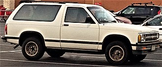 Compact sport utility vehicle - A two-door Chevrolet S-10 Blazer