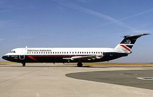 British Airways Flight 5390 - A British Airways BAC 1-11 similar to the aircraft involved in the incident.