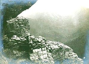 Col di Lana - Col di Lana, austro-hungarian position in 1916