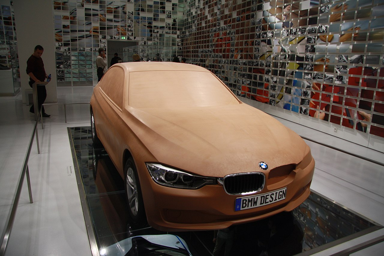 File Bmw Car Wood Model In Bmw Museum In Munich Bayern