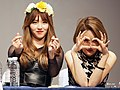 BP Rania members with finger hearts and hand heart in 2015.jpg