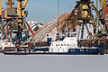 BTT-29 in Winter at Moscow North River Port 10-feb-2015.jpg
