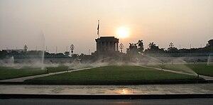 Quảng trường Ba Đình và lăng Hồ Chí Minh nhìn từ phía đường Bắc Sơn