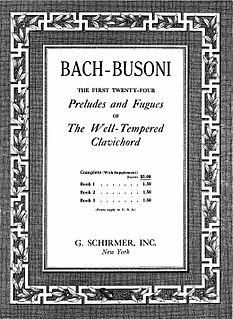 Bach-Busoni Editions Series of publications by the Italian pianist-composer Ferruccio Busoni