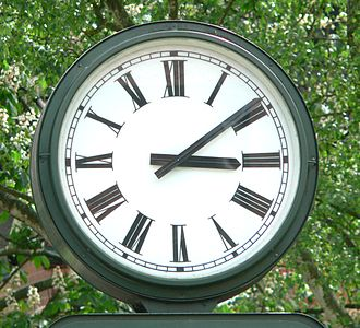 Roman numerals - A typical clock face with Roman numerals in Bad Salzdetfurth, Germany