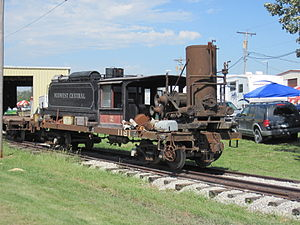 Midwest Central Railroad - Baldwin 2-6-0, dismantled, awaiting restoration.