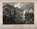 Balliol College, Oxford; from the gardens. Line engraving by Wellcome V0014066.jpg