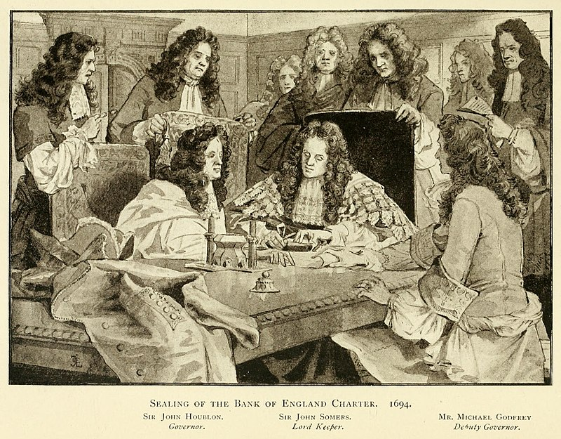 Bank of England Charter sealing 1694.jpg