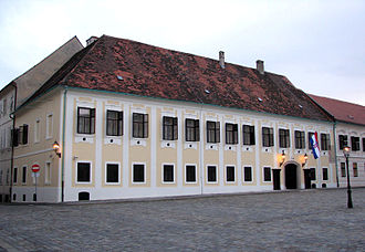 Kingdom of Croatia-Slavonia - Banski dvori (Ban's Court), the palace of the Ban of Croatia, in Zagreb, today a seat of the Croatian Government.
