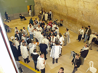 Bar and Bat Mitzvah - Bar mitzvah at the Western Wall in Jerusalem