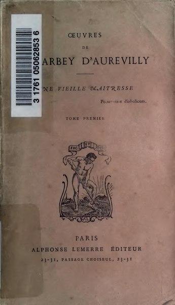 File:Barbey d'Aurevilly - Une vieille maitresse, tome 1.djvu