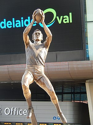 Barrie Robran - Statue of Robran outside Adelaide Oval