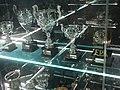Basketball trophies at Museu Cosme Damião.JPG