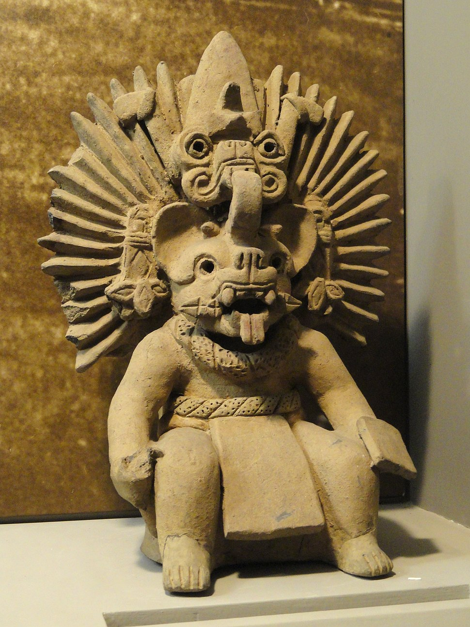 Bat god, Zapotec, Period III-A - Mesoamerican objects in the American Museum of Natural History - DSC06023