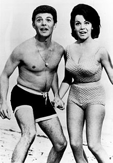 Beach Party Annette Funicello Frankie Avalon Mid-1960s.jpg