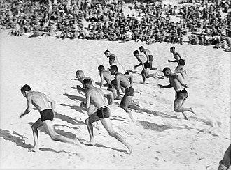 George Silk - Image: Beach sports under summer skies