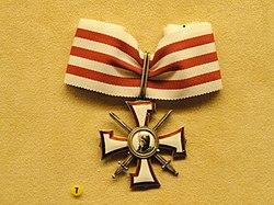Bear Hunters Order, 3rd class, Latvia, 1919-1940 - National Museum of Finland - DSC04016.JPG